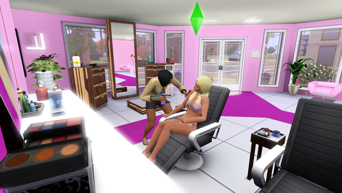 Mod the sims madame jojo 39 s beauty salon for Salon moderne sims 4