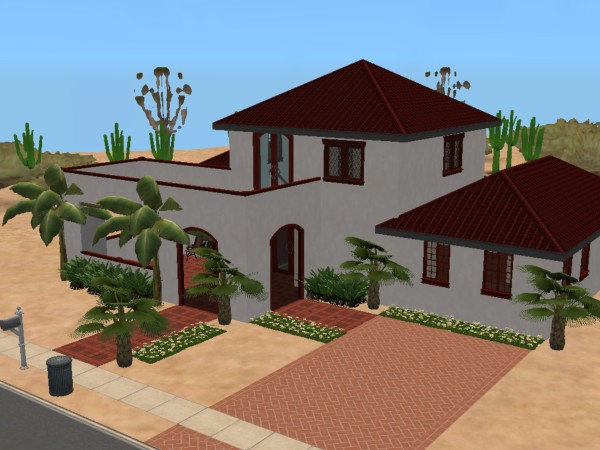 Mod The Sims South West Spanish Style Home 44k