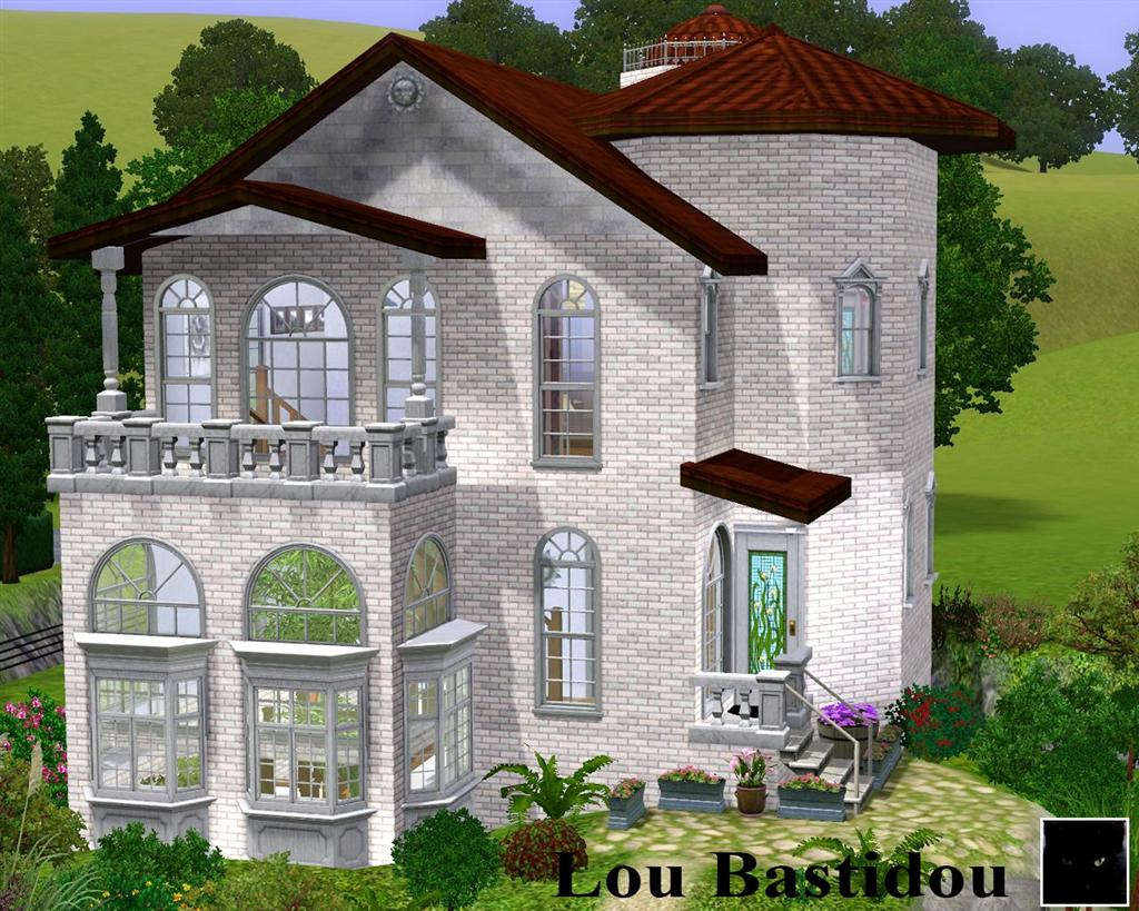 Mod the sims lou bastidou small mditerranean mansion for Tiny house mansion