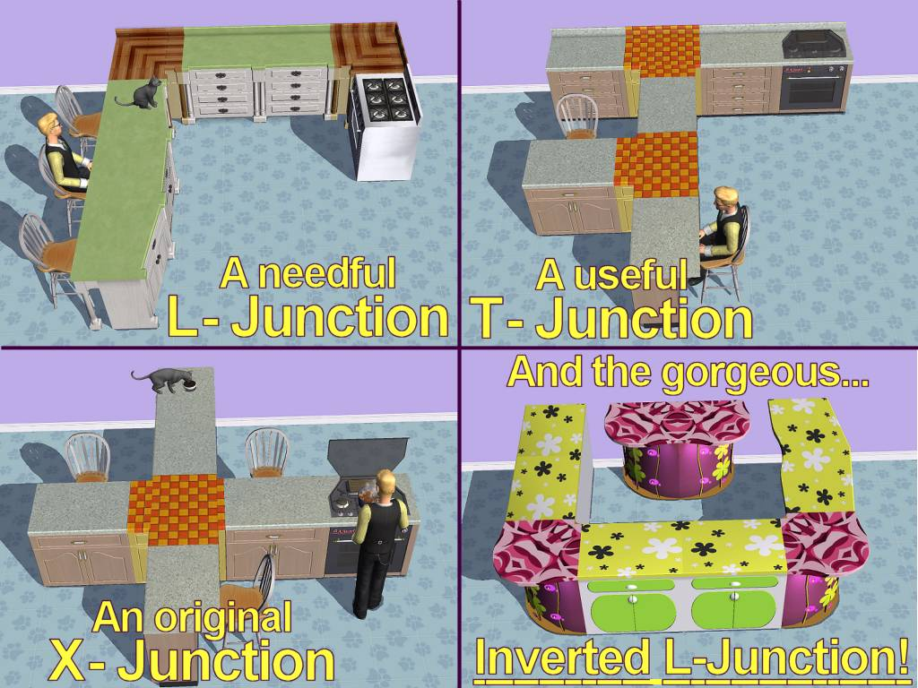 Mod The Sims - Multi-Junctions for kitchen counters
