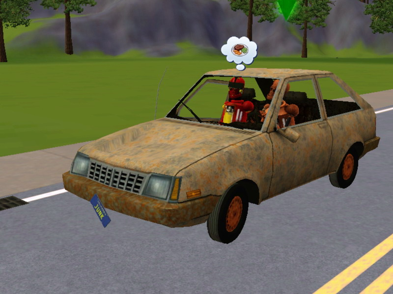 Mod The Sims - The Junkyard Dawg(Really Junky Car)
