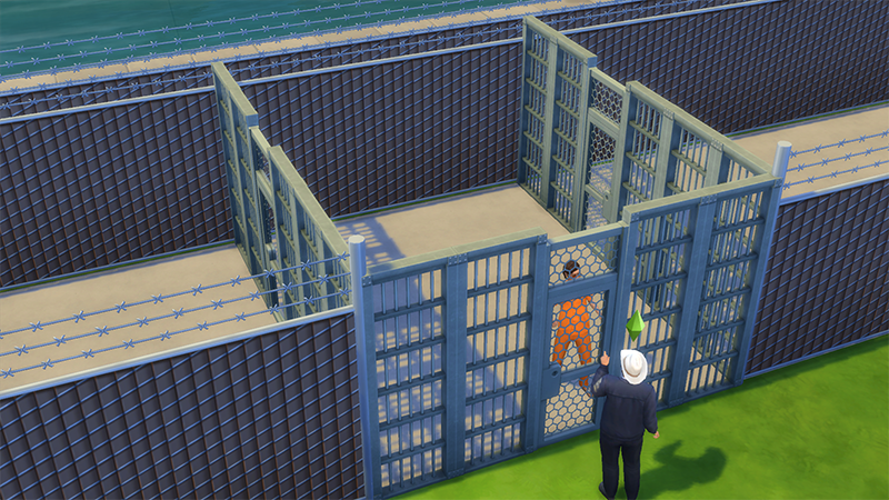 x & Mod The Sims - The Sims 4 Prison Set(Working Jail Doors + More)
