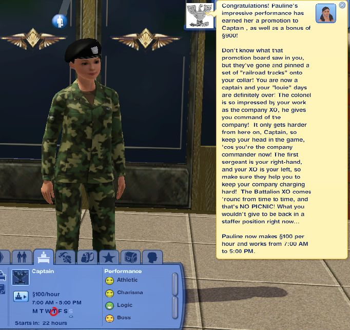 Army Officer Career (Карьера офицера) Sims 3.