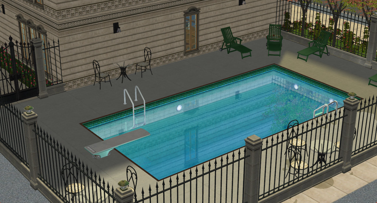 Sims Luxury Rooftop Apartment Pool