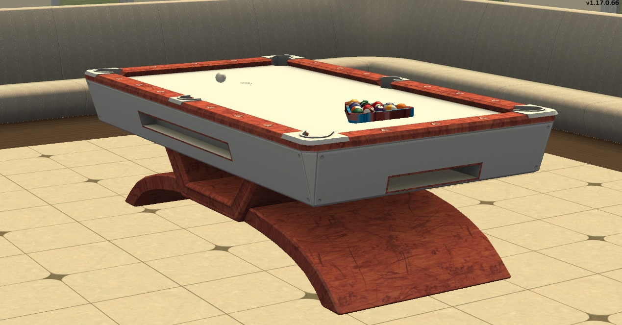 Mod the sims ts3 modern pool table for Pool table 6 x 3