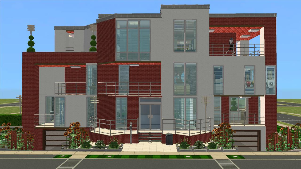 Mod the sims the pleasant modern for Big modern house sims 4