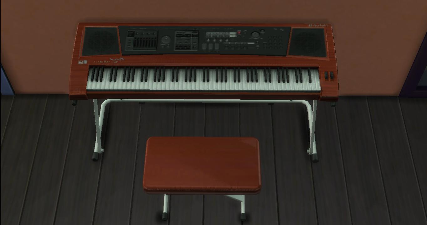Mod the sims ts4 keyboard piano for Moderni piani a 4 piani