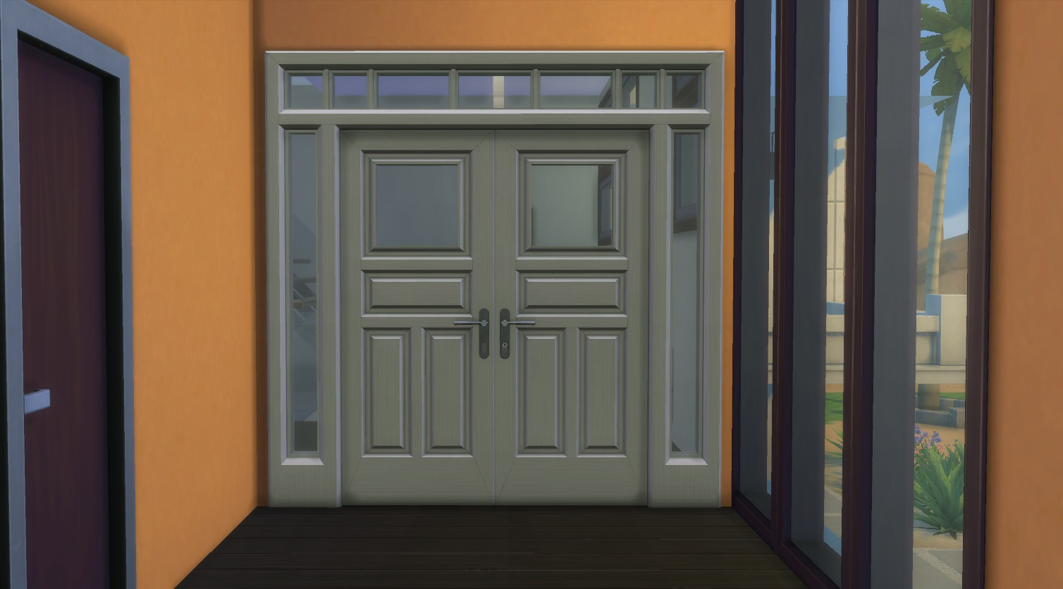 From The Sims 3, I Bring To You The Double Contemporary 3x1 Door Normally  Referred To As The Knock Knock Door
