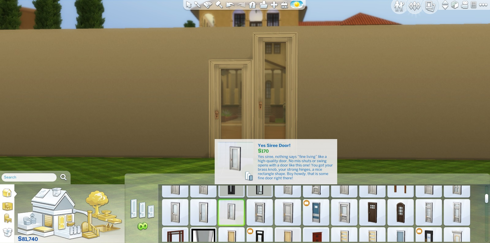 x & Mod The Sims - Sims 4 Doors Modified