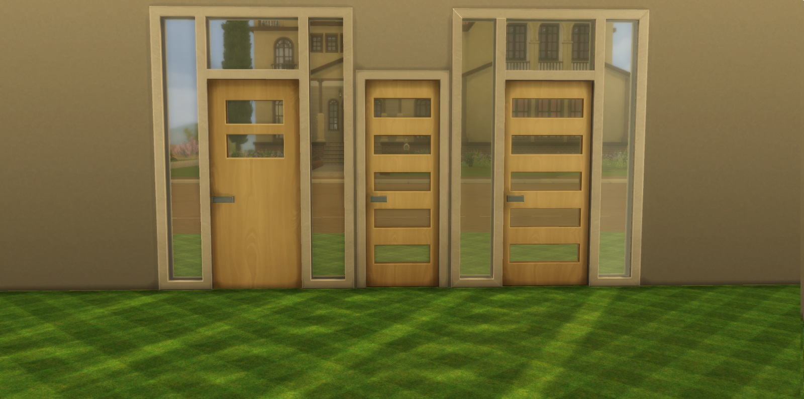 The Above Is A Modified Version Of The The Modern Wooden Door Plus Short  Sidelights And Transom And The Modern Wooden Door With Frosted Glass Insets.