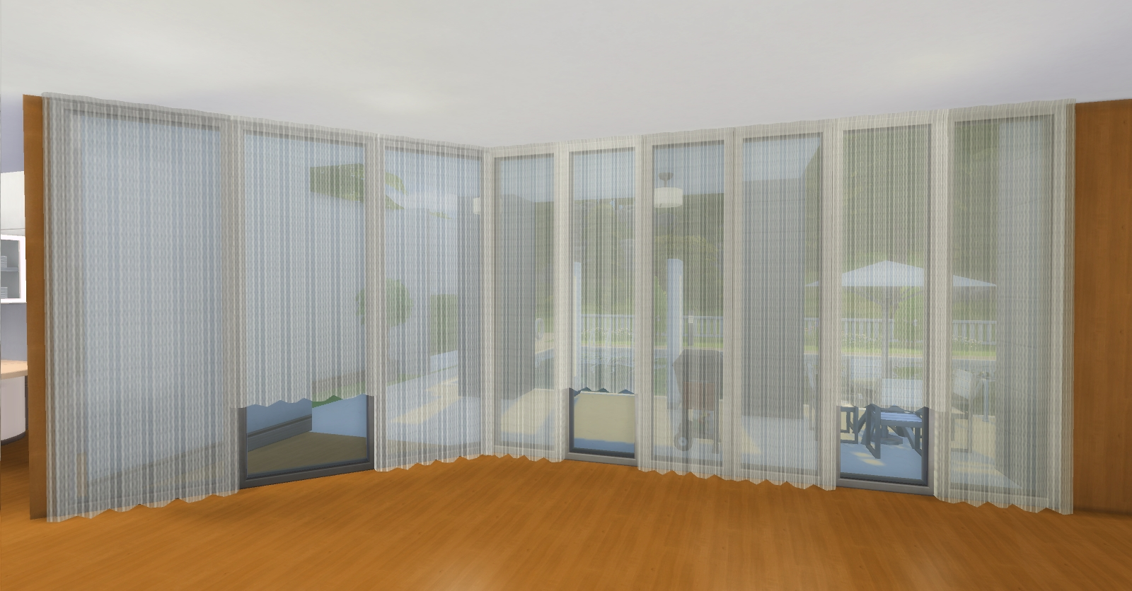 6 1 2 Sips Curtain Wall : Mod the sims lokoma curtains