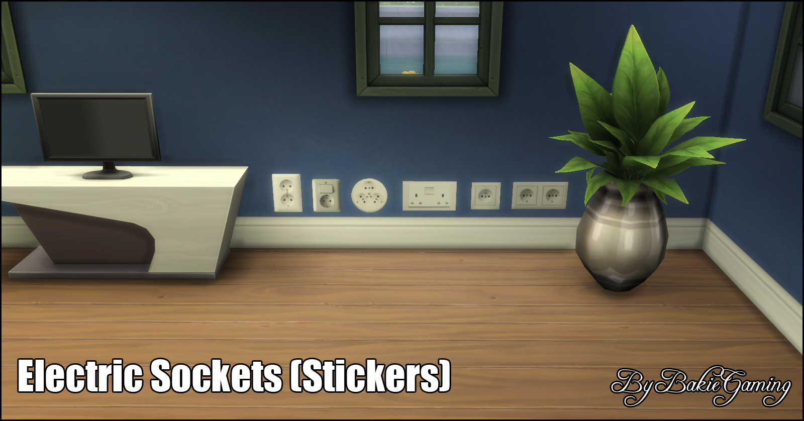 Mod The Sims Electric Sockets Wall Stickers Standalone