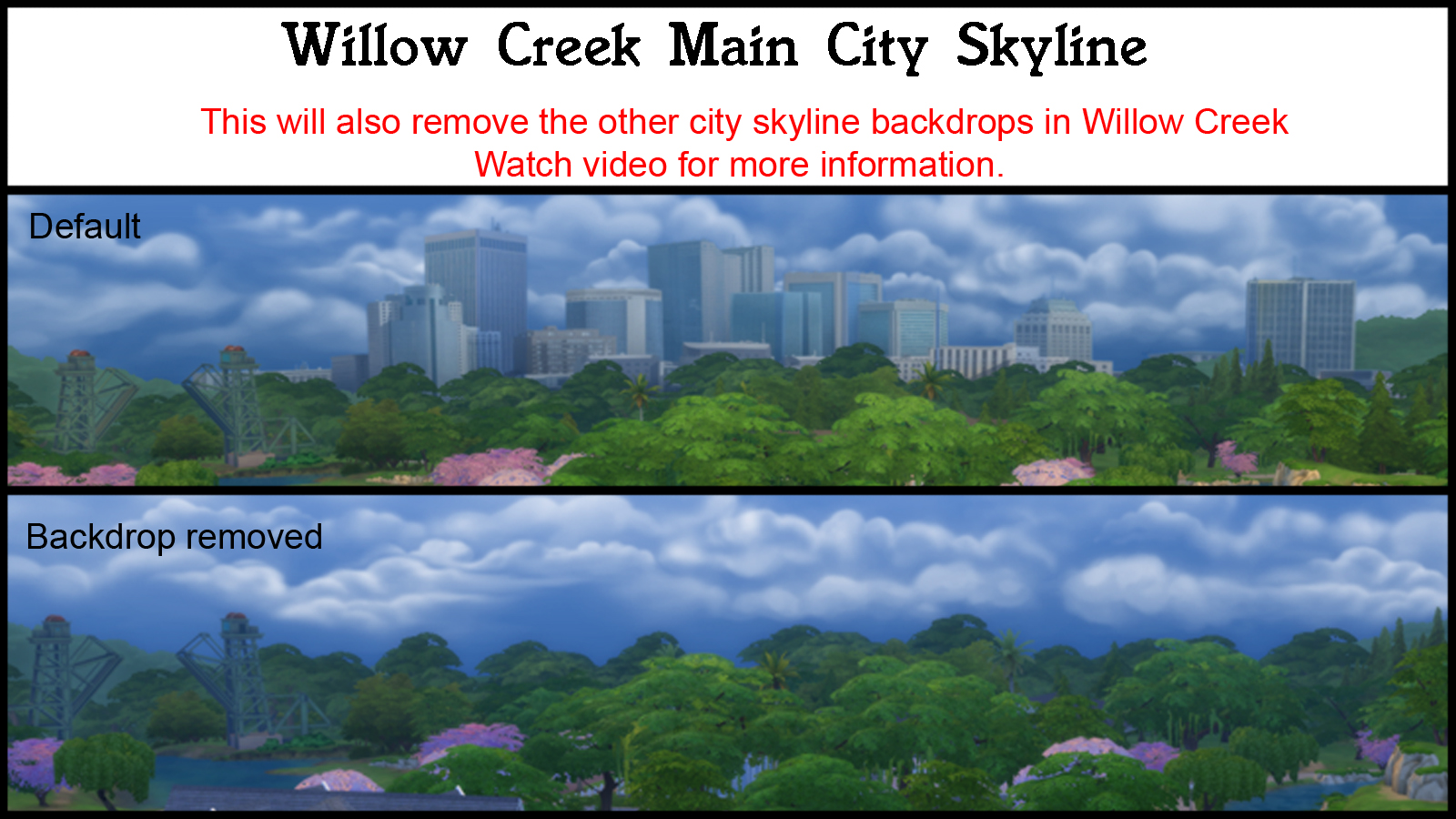 Mod The Sims - City Skyline Backdrop REMOVER (Overwrite)