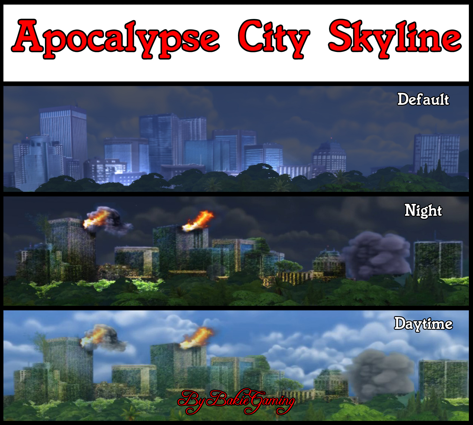 Mod The Sims - Apocalypse City Skyline Replacement