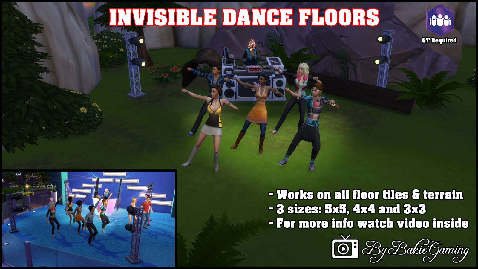 Mod the sims invisible dance floors for 1 2 3 4 get on d dance floor