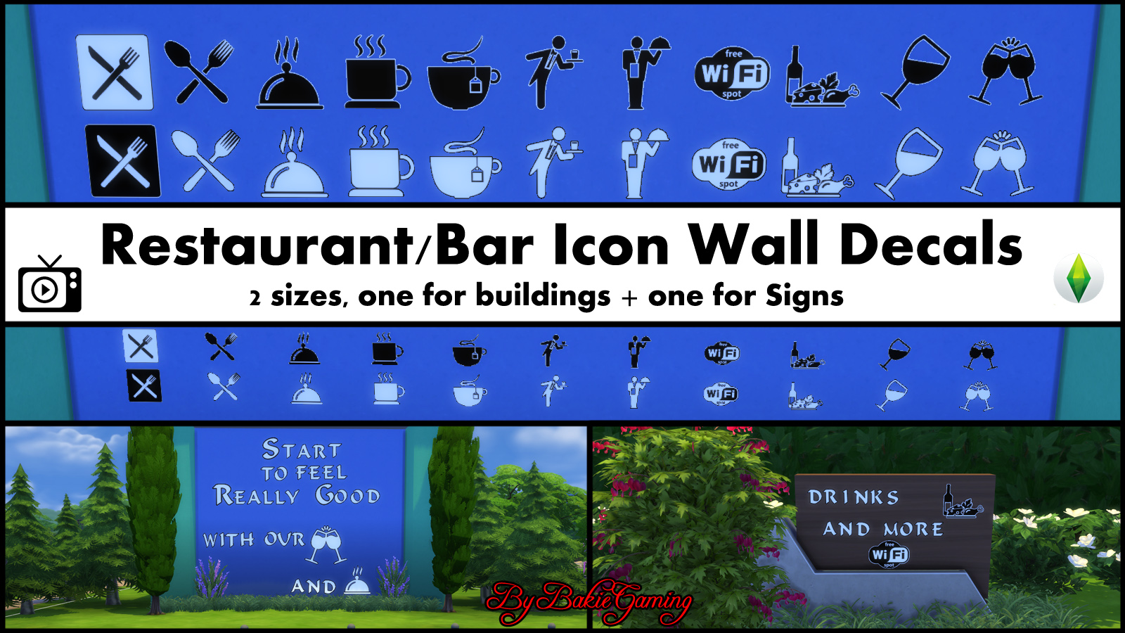 After my alphabet wall decals i needed some icons to fill up empty spaces on the buildings and empty signs so i started to make my first