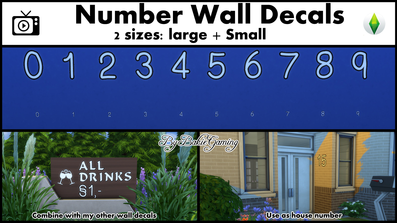 Number wall decals after my simlish alphabet and special character wall decals there was only one missing pack number wall decals