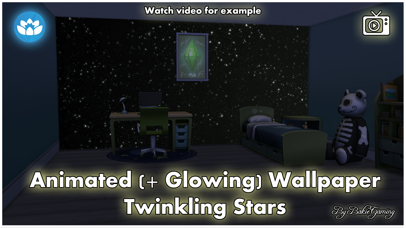 Mod The Sims - Animated Wallpaper - Twinkling Stars