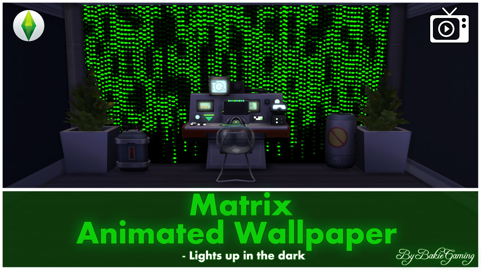 Mod The Sims Animated Wallpaper Matrix