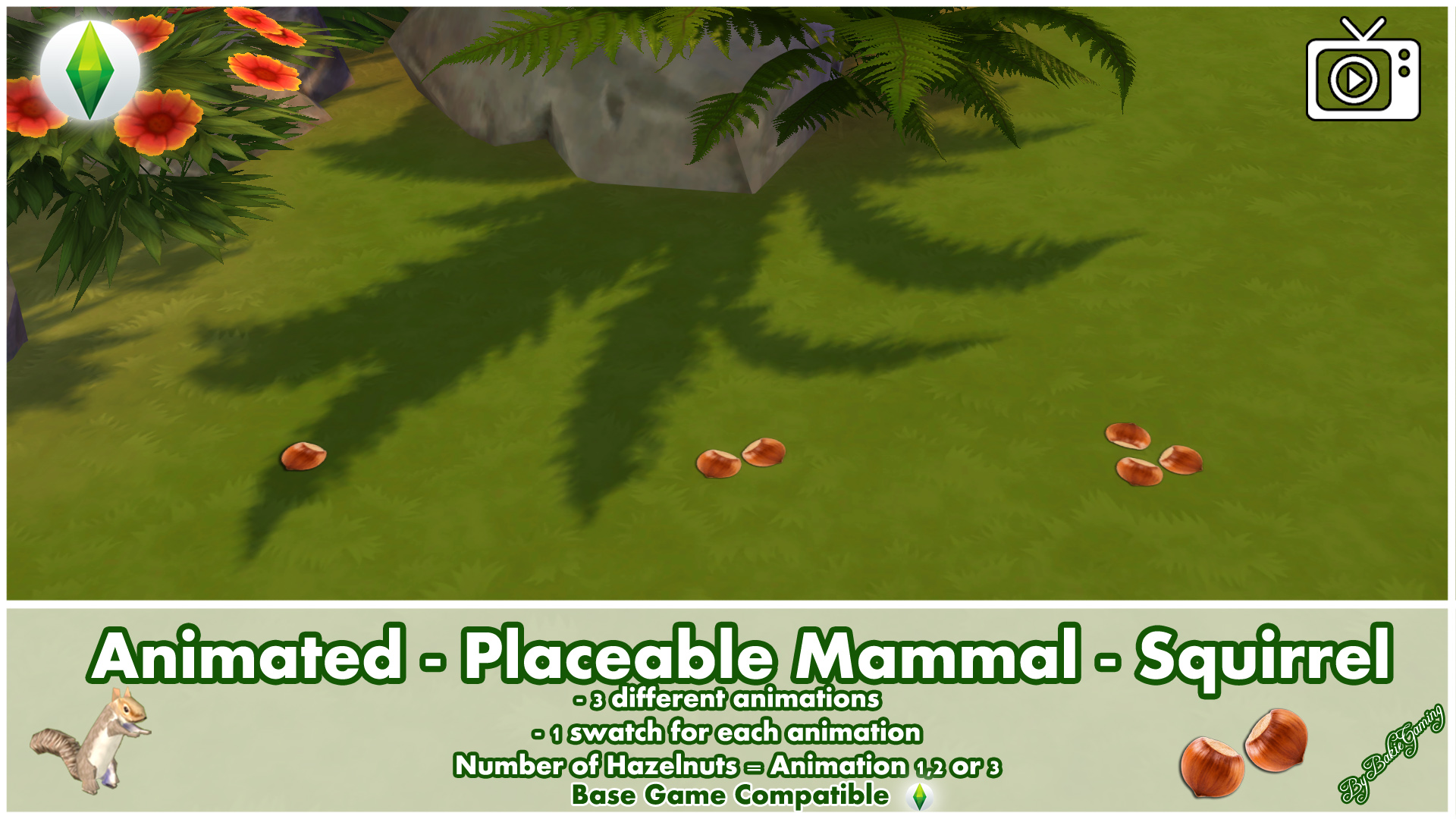 Mod The Sims - Animated - Placeable Mammal - Squirrel