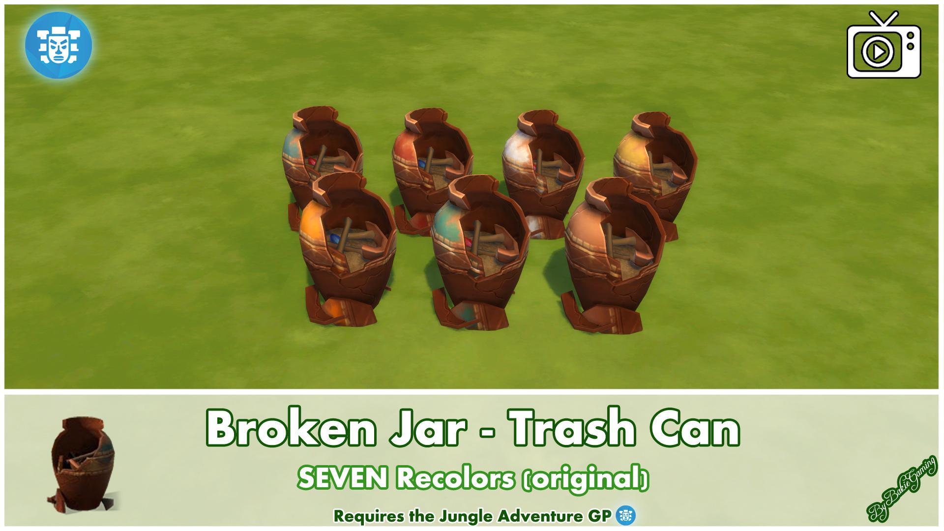 Мод Сломанная банка - мусорное ведро