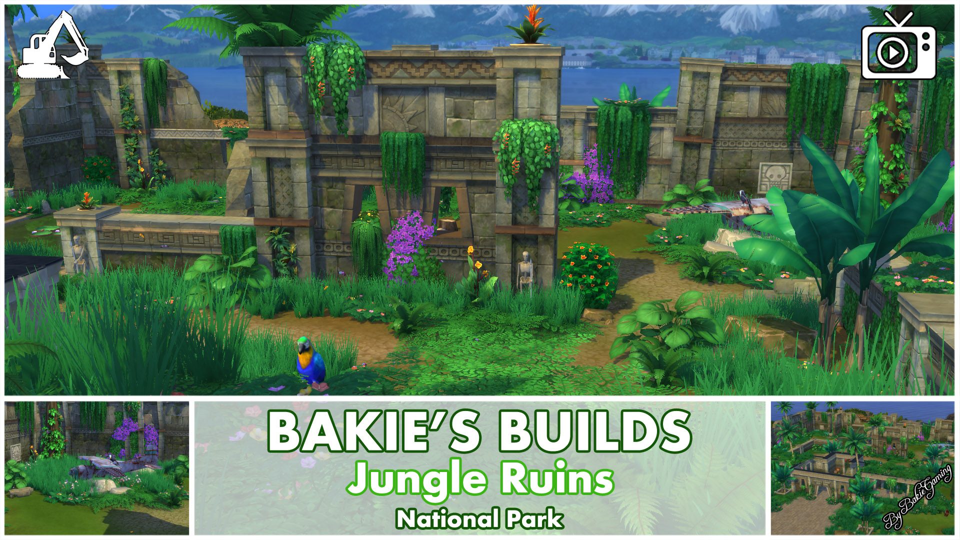 mod the sims jungle ruins national park. Black Bedroom Furniture Sets. Home Design Ideas