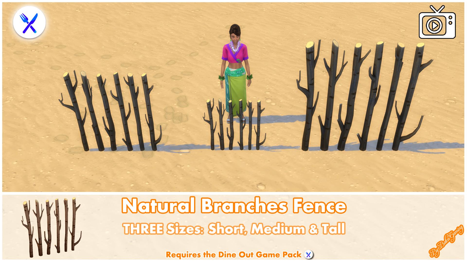 Мод Забор из натуральных веток