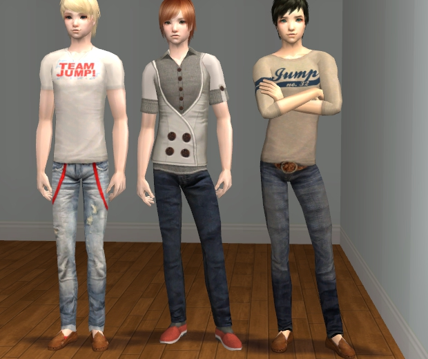 Mod the sims team jump 3 outfits for the boys w recolors for Sims 3 spielideen