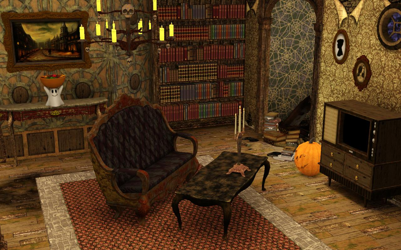 mod the sims halloween funeral house