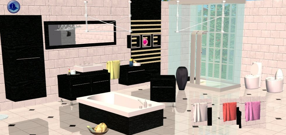 Perfekt Mod The Sims   Bathroom Minimaliste In Blackwood, Badezimmer Ideen. Sims 2  Downloads ...