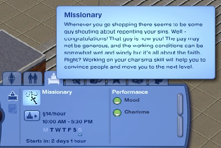 Mod The Sims Sims 3 Priest Career Full Time