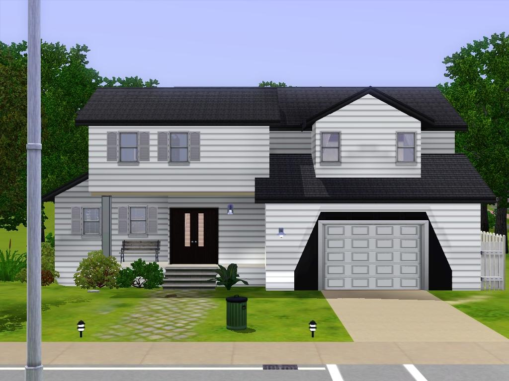 Mod the sims simple family house for Minimalist house the sims 3