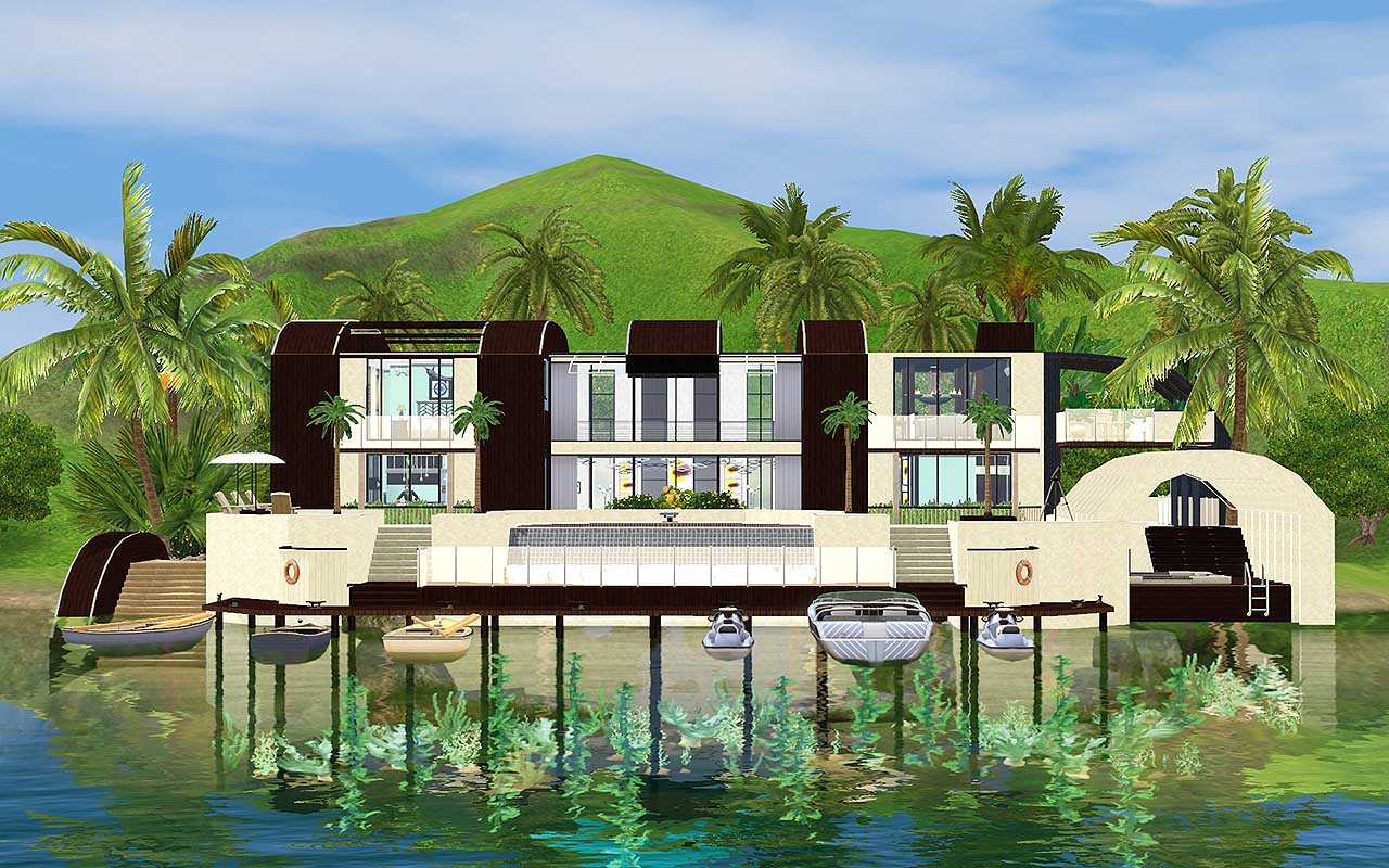Download the sims 3 5 house luxury for Beach house 3 free download
