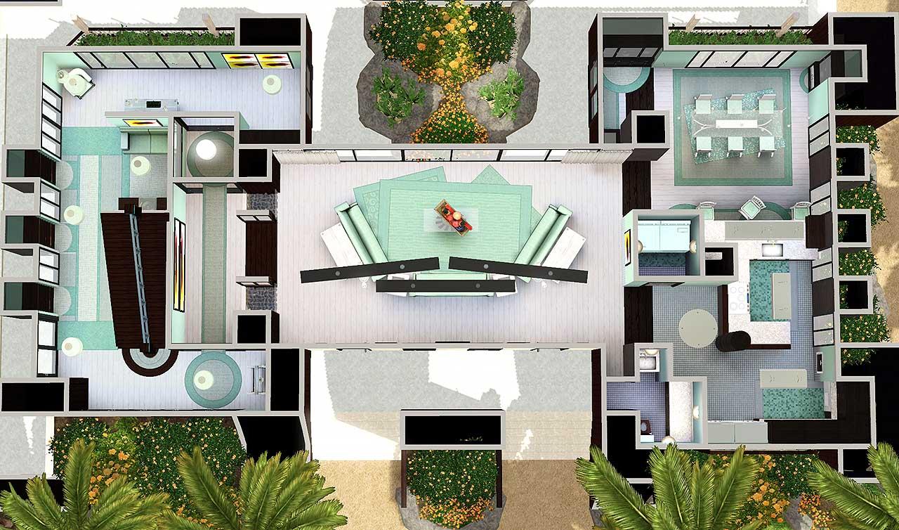 Sims 3 beach house floor plans for Beach house plans 3 floors