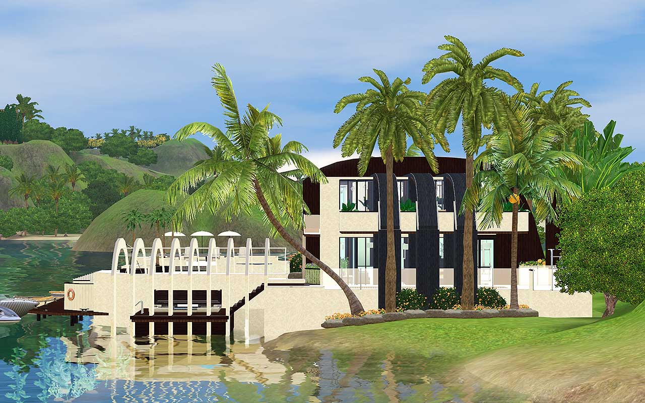 Mod the sims serenity a calming beach house retreat for Beach house 3 free download