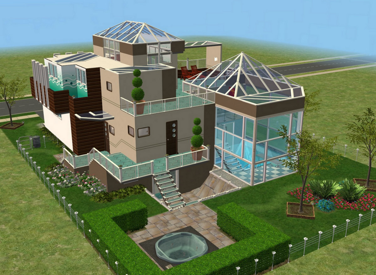 Mod The Sims White Diamond All Levels Are Split Level
