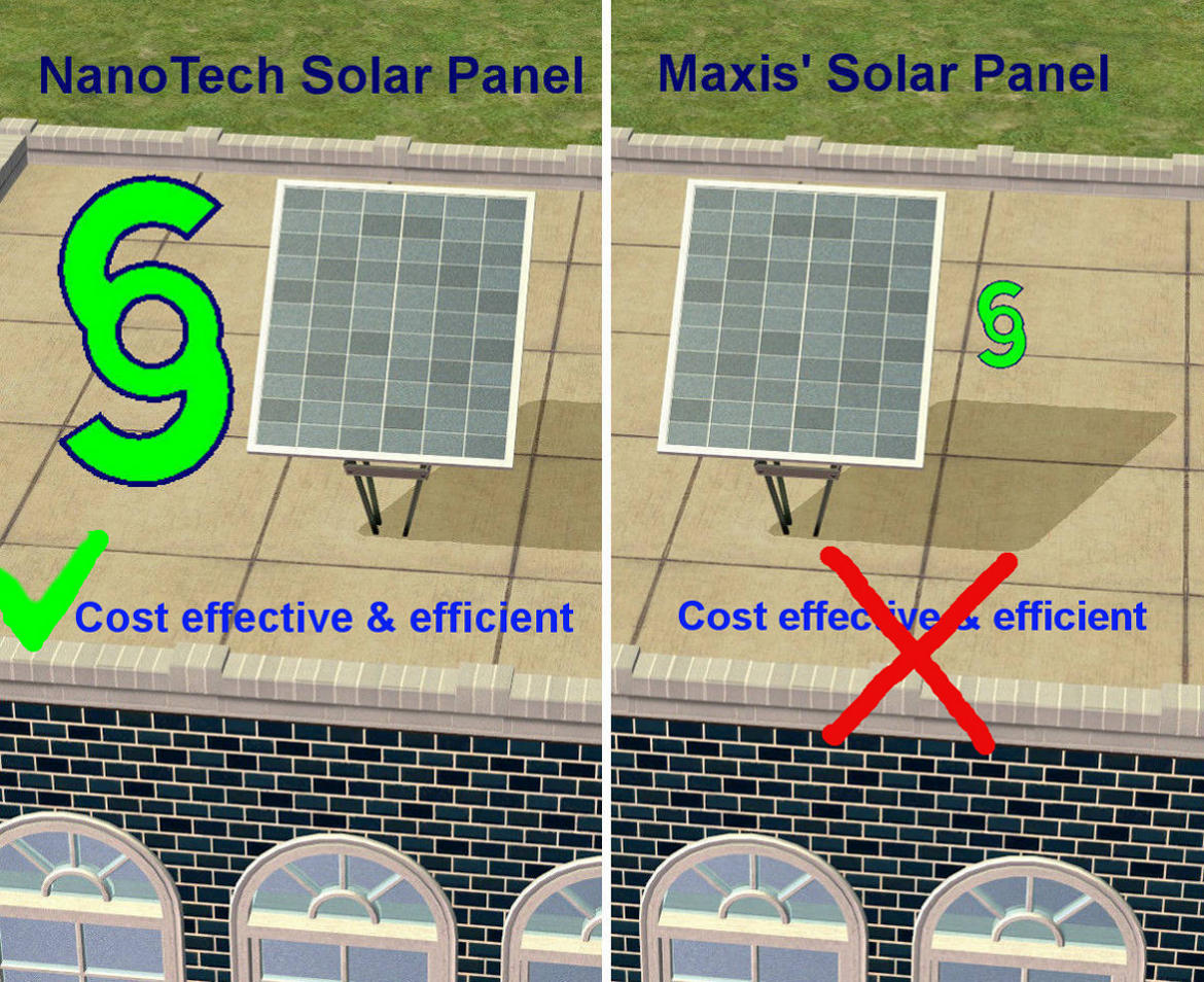 Mod the sims nanotech solar panel an object mod for Solar energy games