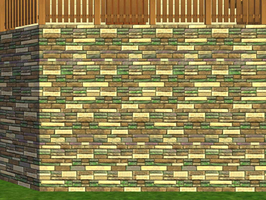 9451c8ab7af Mod The Sims - 3 Composite Stone Walls - Maxis Recolors