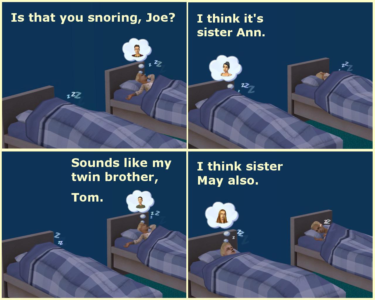 Mod The Sims - No More Snoring - Sleep Peacefully