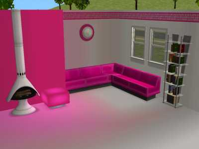 mod the sims hot pink amp white modern wallpapers