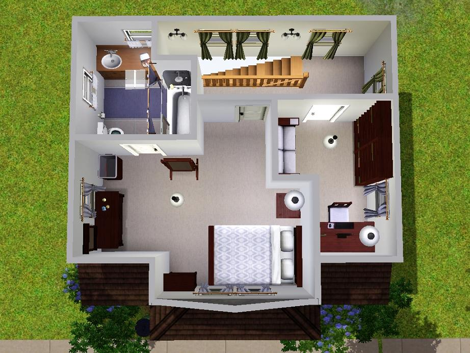 Mod the sims micro starter home for Small starter house plans