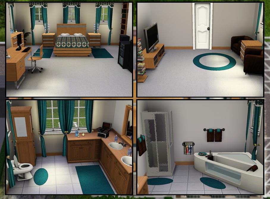 Mod the sims 3 bedroom craftsman cliffside home for Sims 3 6 bedroom house