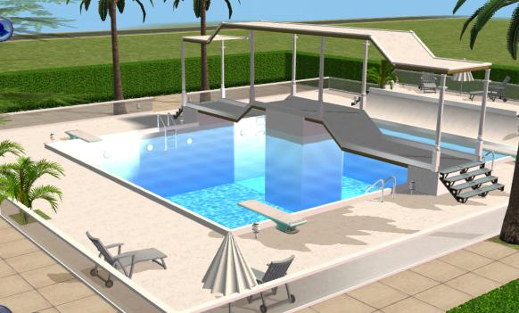 Mod the sims sunrise boulevard a luxury community lot for Pool designs sims 4