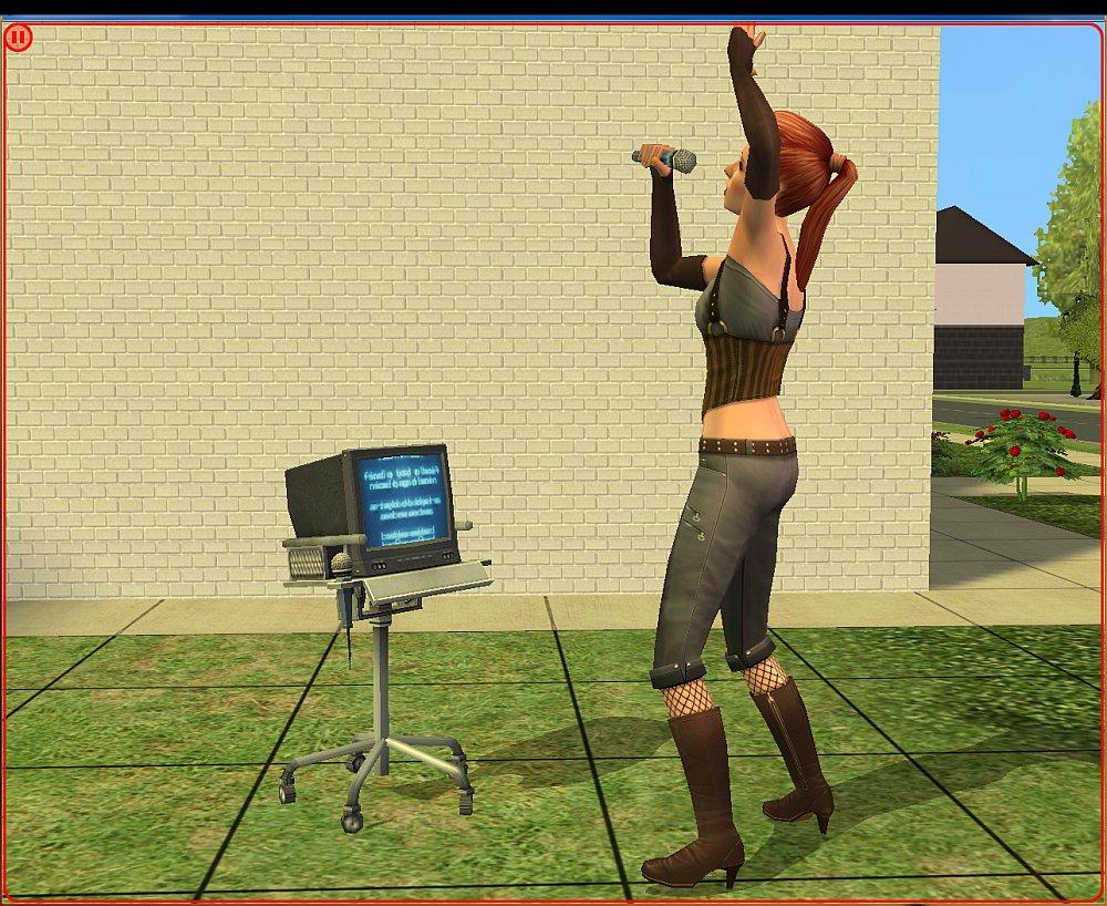 sims 3 karaoke machine