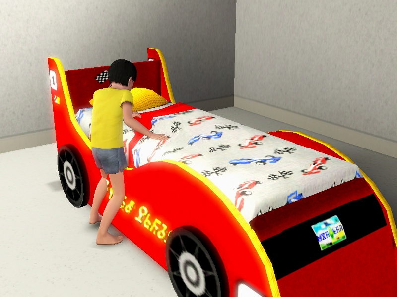 Mod The Sims Race Car Bed For Kids Teens Now Pets Patch