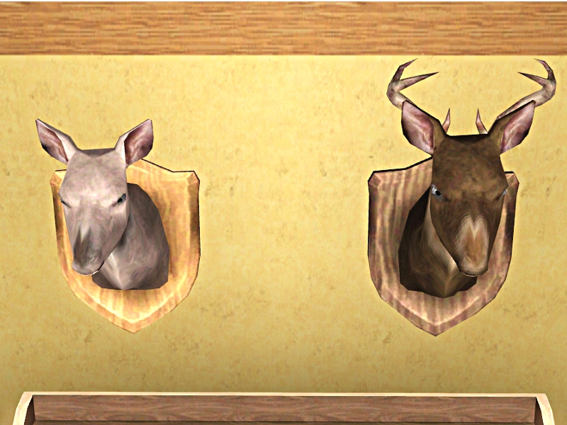 Mod The Sims Hunter Collection Deer Heads Doe And Buck