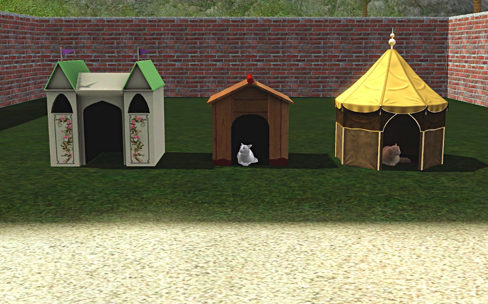 Mod The Sims 3 New Pet Houses For Cats Or Dogs Large And