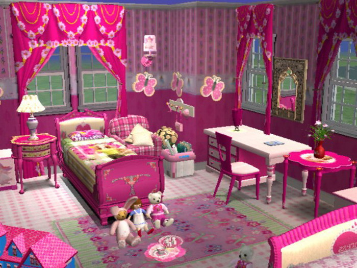 Mod The Sims - Barbie Bedroom Set For Little Girl