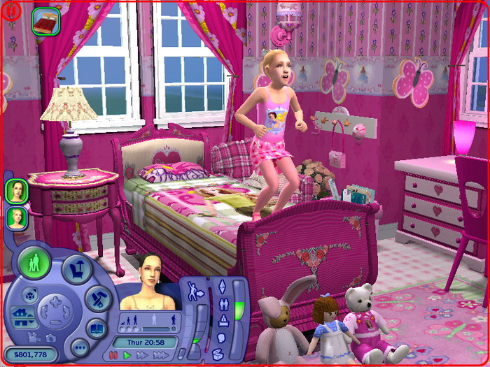Mod The Sims - Barbie Bedroom Set For Little Girl