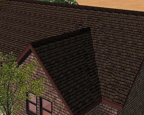 Mod The Sims Rustic Roof